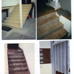 stopnice iz keramike in kamna